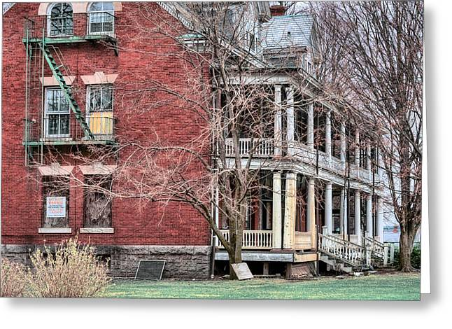 Officers Quarters Greeting Cards - The Bachelor Officers Quarters  Greeting Card by JC Findley