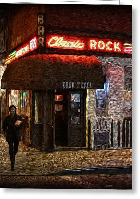 Cheap Art Greeting Cards - The Back Fence Bar Greeting Card by Lee Dos Santos