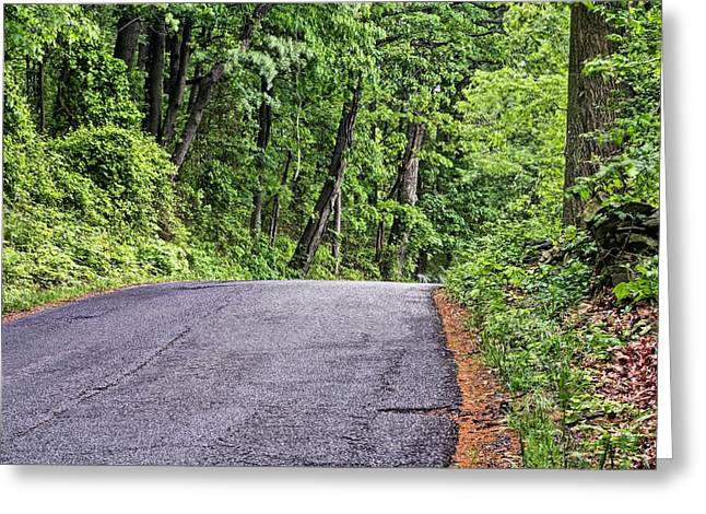 Mountain Road Greeting Cards - The Back Roads Greeting Card by JC Findley