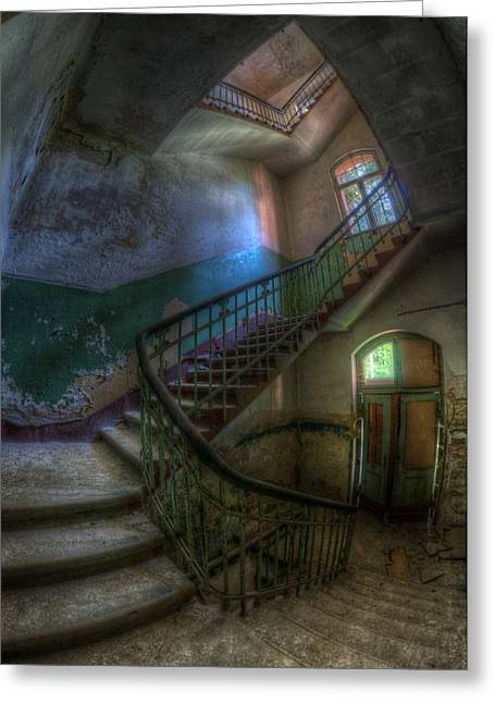 Sanitarium Greeting Cards - The back stairs Greeting Card by Nathan Wright