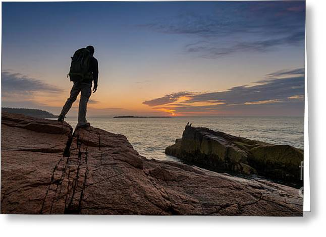 Ver Sprill Photographs Greeting Cards - The Backpacker pano Greeting Card by Michael Ver Sprill