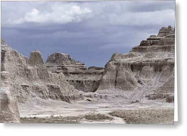 The Plateaus Greeting Cards - The Badlands Sandstone Fortress Greeting Card by Nadalyn Larsen