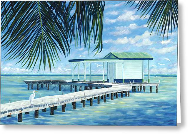 Danielle Perry Paintings Greeting Cards - The Bait Shack Greeting Card by Danielle  Perry