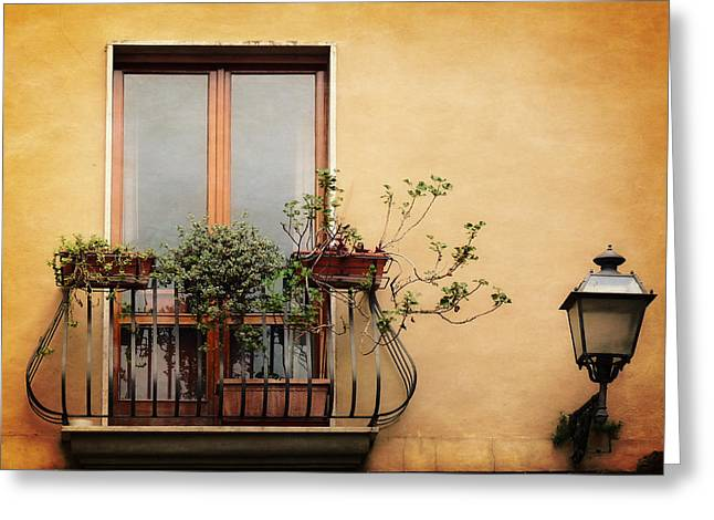 Lucinda Walter Greeting Cards - The Balcony Greeting Card by Lucinda Walter