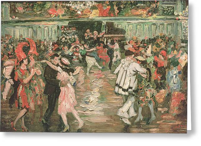 Montmartre Greeting Cards - The Ball At The Moulin Rouge Greeting Card by Marcel Leprin