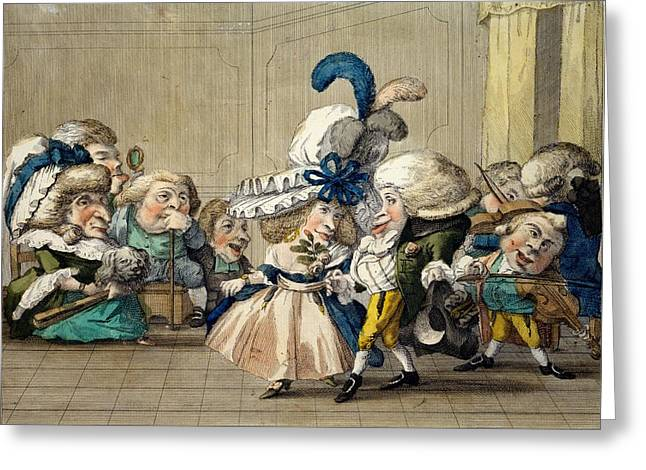 The Ball Greeting Cards - The Ball, C.1790 Greeting Card by Carlo Lasinio