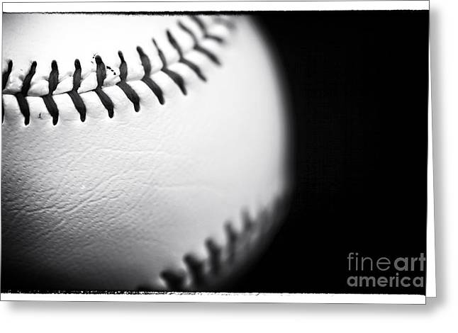 American Pastime Greeting Cards - The Ball Greeting Card by John Rizzuto