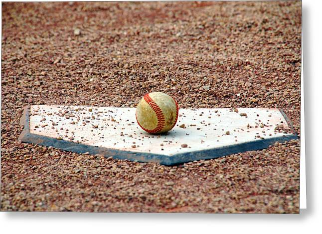 Baseball Game Greeting Cards - THE ball of Field of Dreams Greeting Card by Susanne Van Hulst