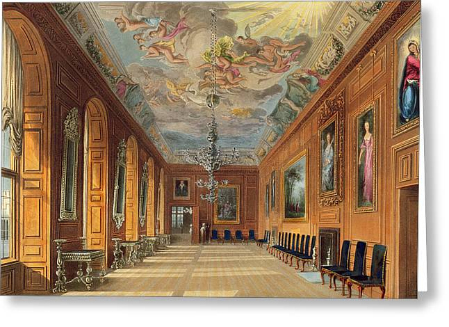 Ceiling Greeting Cards - The Ball Room, Windsor Castle Greeting Card by Charles Wild