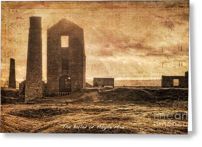 History Derbyshire Greeting Cards - The Ballad of Magpie Mine Greeting Card by David Birchall