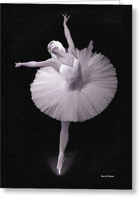 Ballerina Artwork Greeting Cards - The Ballerina Greeting Card by Angela A Stanton