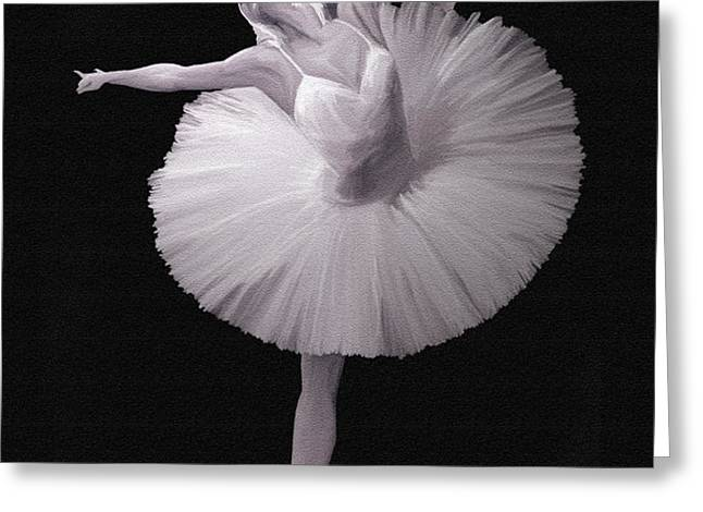 The Ballerina Greeting Card by Angela A Stanton
