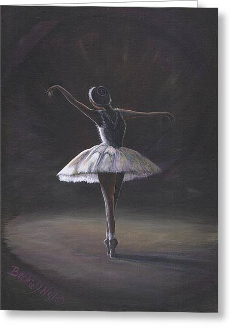 The Ballerina Greeting Card by Beckie J Neff