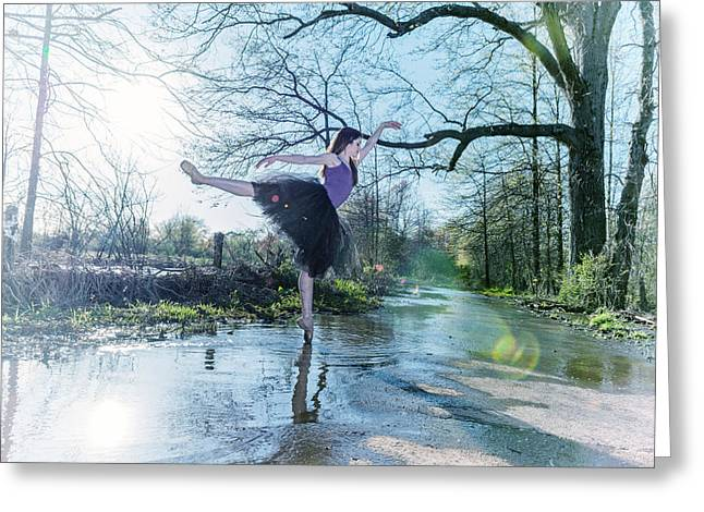 Ballet Dancers Photographs Greeting Cards - The Ballerina Greeting Card by Ryan Crane