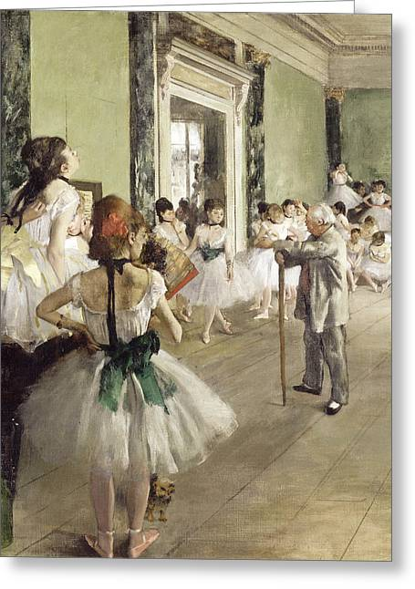 The Ballet Greeting Cards - The Ballet Class Greeting Card by Edgar Degas