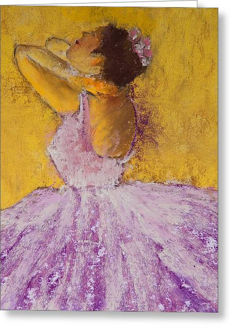 Tutu Pastels Greeting Cards - The Ballet Dancer Greeting Card by David Patterson