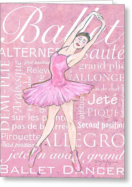 First-class Pastels Greeting Cards - The Ballet Dancer Greeting Card by William Depaula