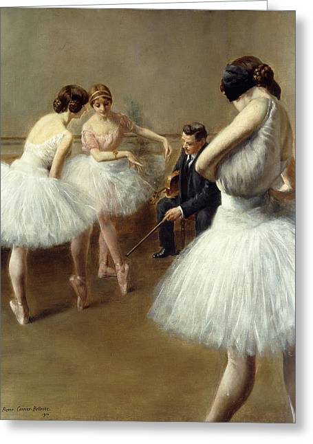 Lessons Greeting Cards - The Ballet Lesson Greeting Card by Pierre Carrier-Belleuse