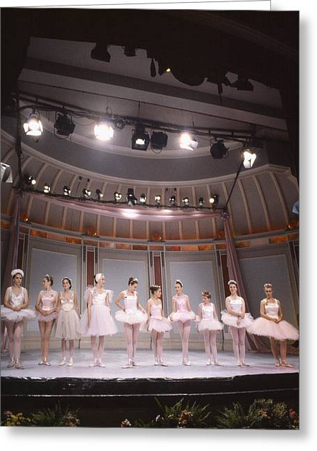 Dancers Rehearsing Greeting Cards - The Ballet Greeting Card by Shaun Higson