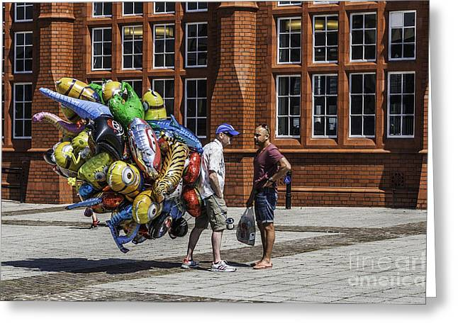 Balloon Vendor Greeting Cards - The Balloon Seller Greeting Card by Steve Purnell