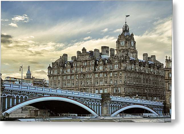 Balmoral Greeting Cards - The Balmoral Hotel Greeting Card by Jason Politte