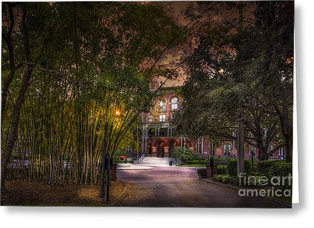 Sidewalks. Arches Greeting Cards - The Bamboo Path Greeting Card by Marvin Spates