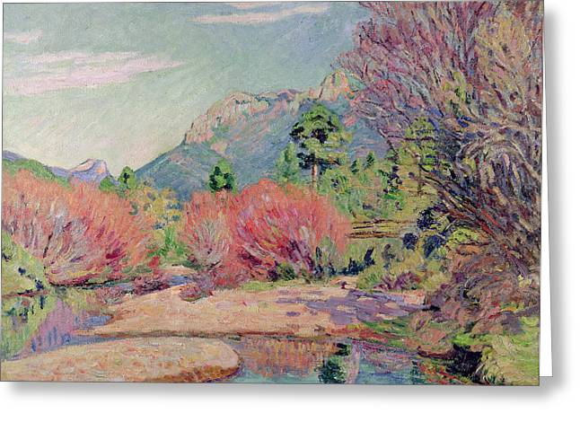 River Paintings Greeting Cards - The Banks of the Sedelle at Crozant Greeting Card by Jean Baptiste Armand Guillaumin