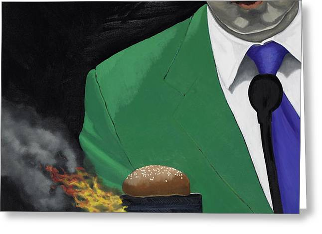 The Banlieu Burger Greeting Card by Marcella Lassen