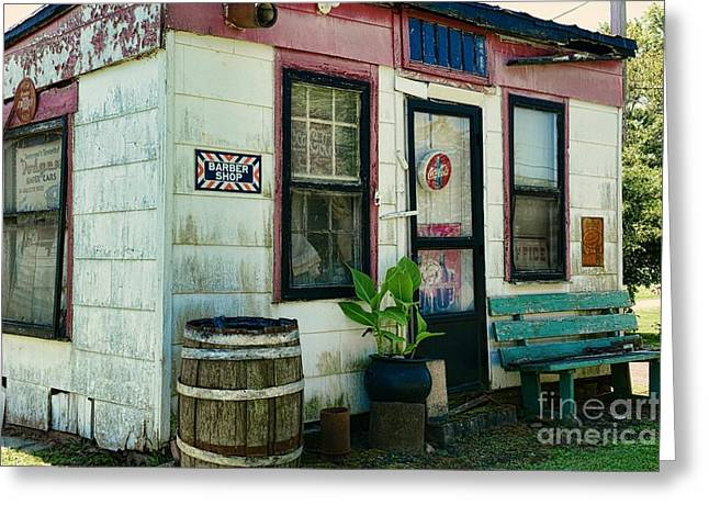 Historic Country Store Photographs Greeting Cards - The Barber Shop from a different era Greeting Card by Paul Ward