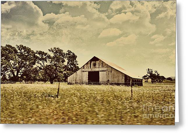 Old Barns Greeting Cards - The Barn 2 Greeting Card by Cheryl Young