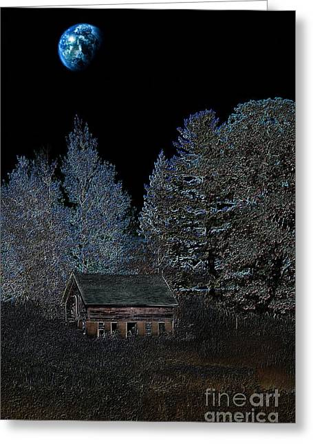 Barn Digital Art Greeting Cards - The Barn At Haumerklien  Greeting Card by The Stone Age