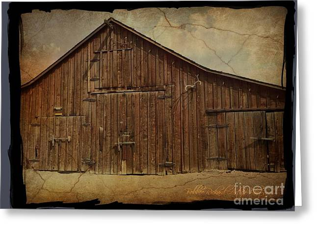 Old Western Photos Greeting Cards - The Vintage Barn  Greeting Card by Bobbee Rickard