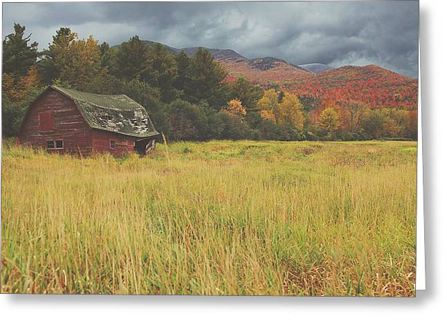 Farm Landscape Greeting Cards - The Barn Greeting Card by Carrie Ann Grippo-Pike