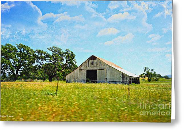 Old Barns Greeting Cards - The Barn Greeting Card by Cheryl Young