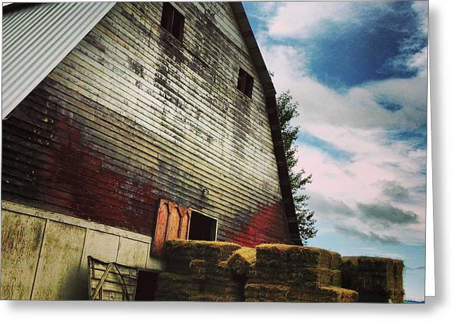 Barns Photographs Greeting Cards - The Barn Greeting Card by Jeff Klingler