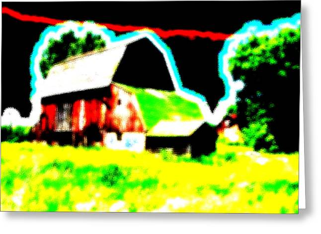 Outbuildings Greeting Cards - The Barn that Everyone Loves Greeting Card by Bruce Nutting