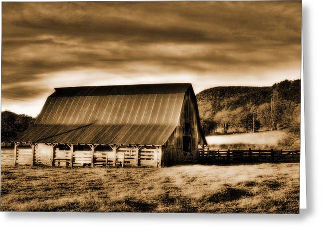 Boxley Valley Greeting Cards - The Barn Greeting Card by Tony  Colvin