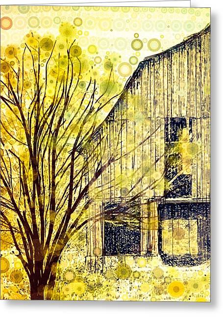 Old Barns Digital Art Greeting Cards - The Barn Where... Greeting Card by Steven Boland