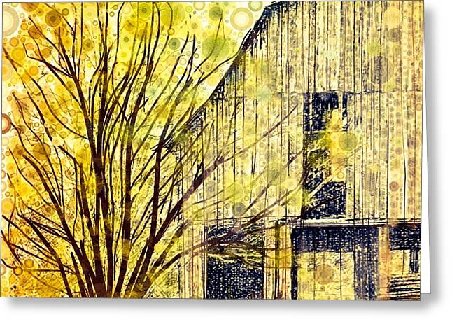 Old Barns Digital Greeting Cards - The Barn Where... Greeting Card by Steven Boland