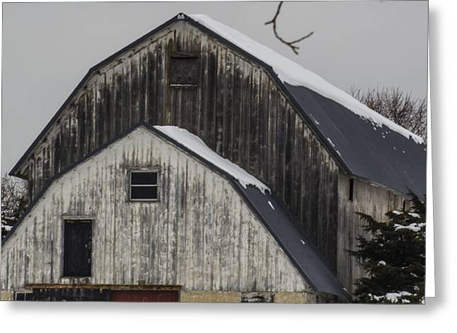The Barn with a Red Door Greeting Card by Deborah Smolinske