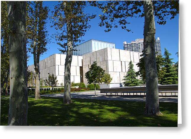 Benjamin Franklin Parkway Greeting Cards - The Barnes Museum - Philadelphia Greeting Card by Bill Cannon