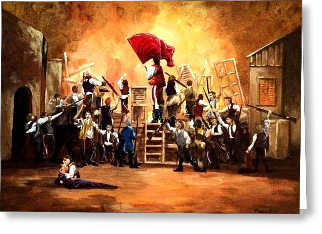 Guild Greeting Cards - The Barricade Greeting Card by Bill Marsoun