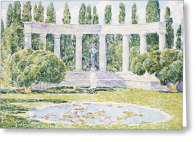 Bartlett Greeting Cards - The Bartlett Gardens Greeting Card by Childe Hassam