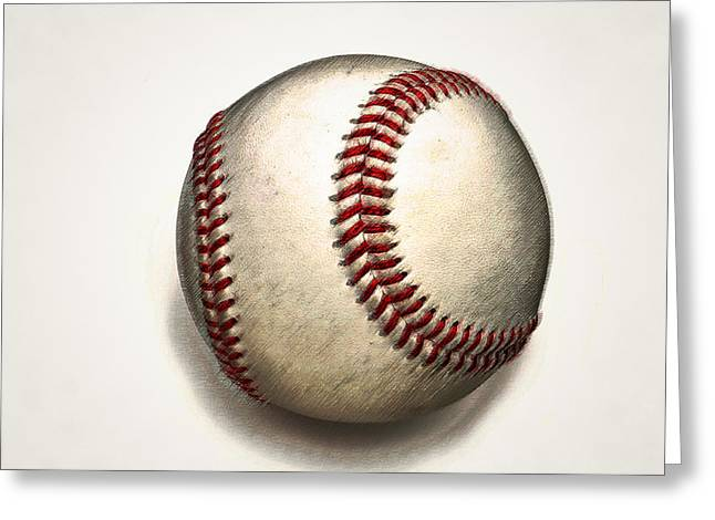 Baseball Game Digital Art Greeting Cards - The Baseball Greeting Card by Bill Cannon