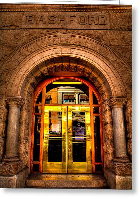 Prescott Greeting Cards - The Bashford Building Prescott Arizona Greeting Card by David Patterson