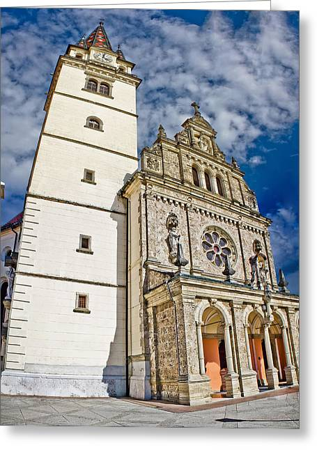 Baslica Greeting Cards - The Basilica in Mary of Bistrica Greeting Card by Dalibor Brlek