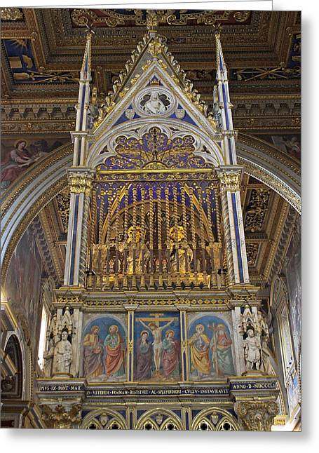 Lateran Greeting Cards - The basilica of Saint John Lateran Greeting Card by Tony Murtagh