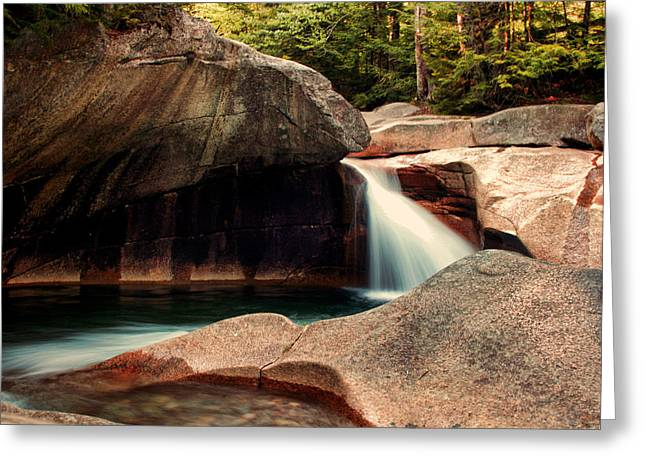 Natural Pools Greeting Cards - The Basin Greeting Card by Heather Applegate