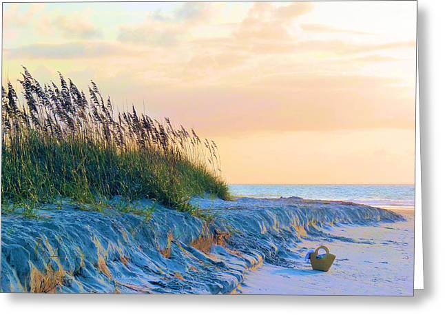 Wrightsville Beach Greeting Cards - The Basket Greeting Card by JC Findley