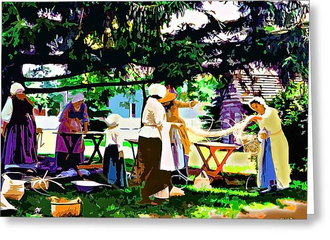 Manufacturing Paintings Greeting Cards - The Basket Weavers Greeting Card by CHAZ Daugherty